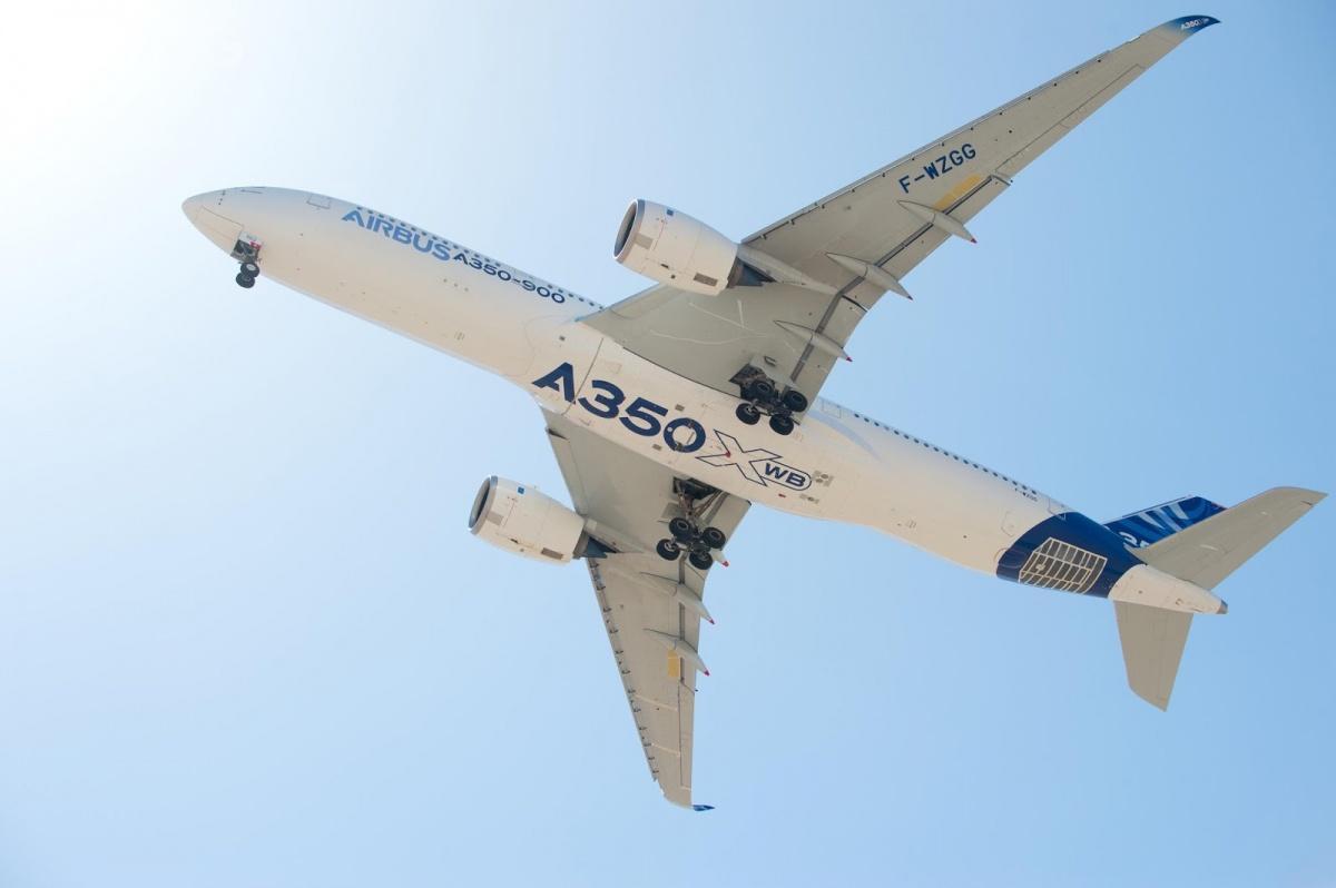 Airbus otrzymał zamówienia około na900 samolotów zrodziny A350, zczego 250 już dostarczono liniom lotniczym nacałym świecie. /Zdjęcie: Airbus