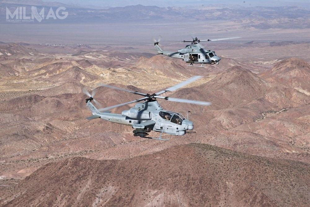 Śmigłowce szturmowe Bell AH-1Z Viper iwielozadaniowe UH-1Y Venom odpiętnastu lat wspierają misje ekspedycyjne amerykańskiego Korpusu Piechoty Morskiej (USMC) / Zdjęcie: Bell Textron