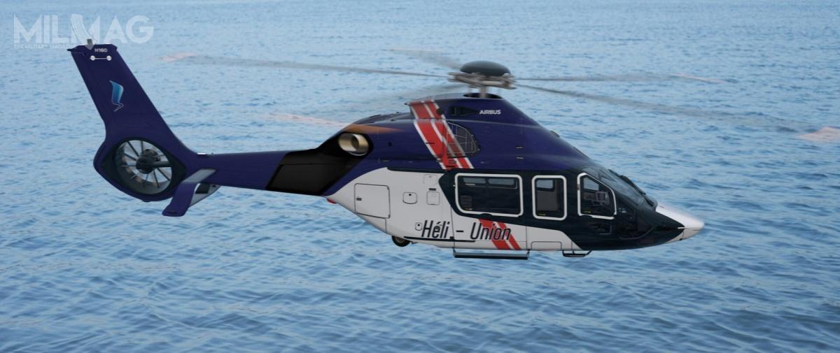 Airbus Helicopters dostarczy dwa lekkie śmigłowce wielozadaniowe nowej generacji H160 spółce Héli-Union, którytym samym stanie się drugim cywilnym użytkownikiem tych wiropłatów / Zdjęcie: Airbus Helicopters
