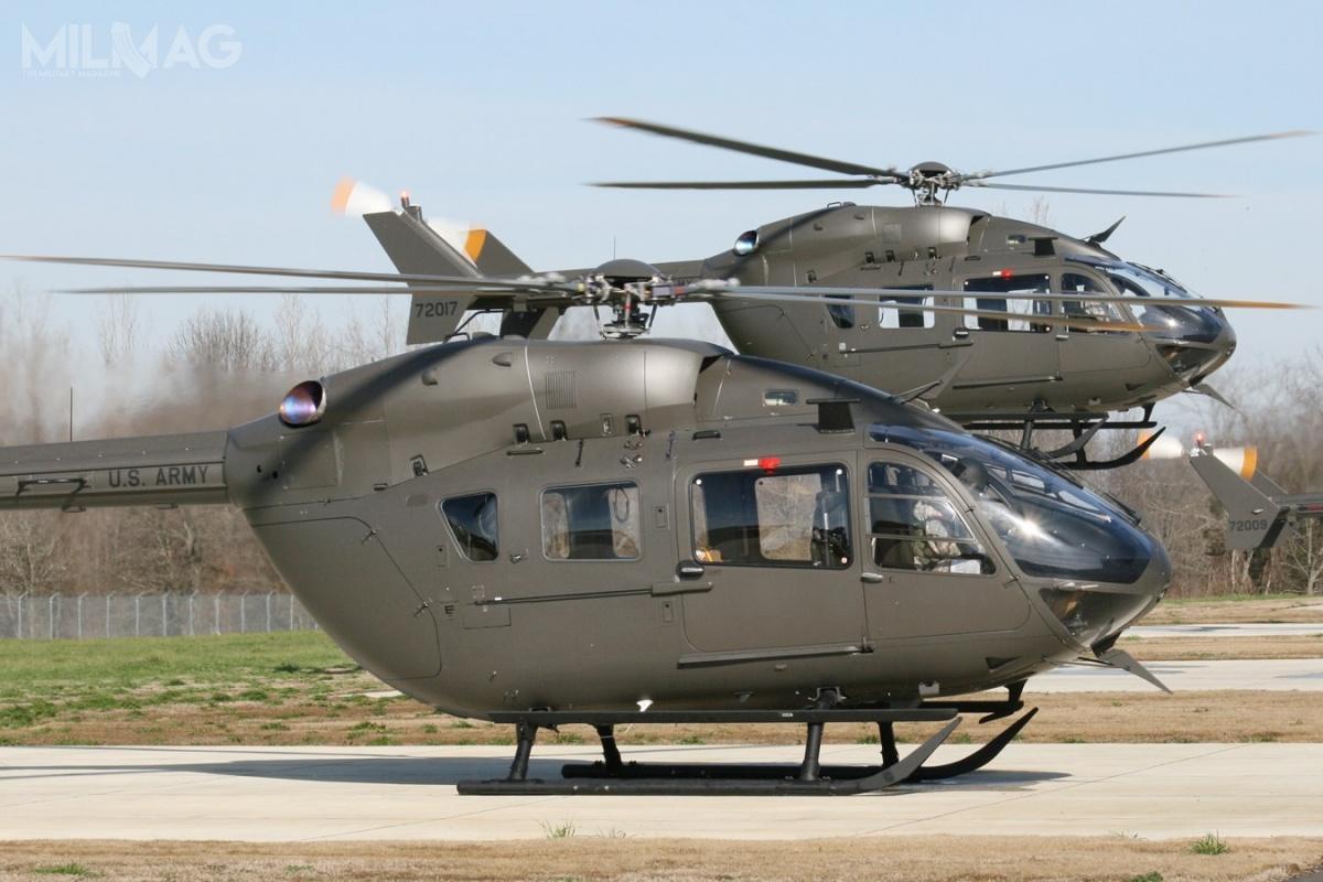 Do głównych zadań śmigłowców UH-72A Lakota wamerykańskich siłach zbrojnych należą misje transportowe, łącznikowe orazszkolenie personelu latającego / Zdjęcie: US Army