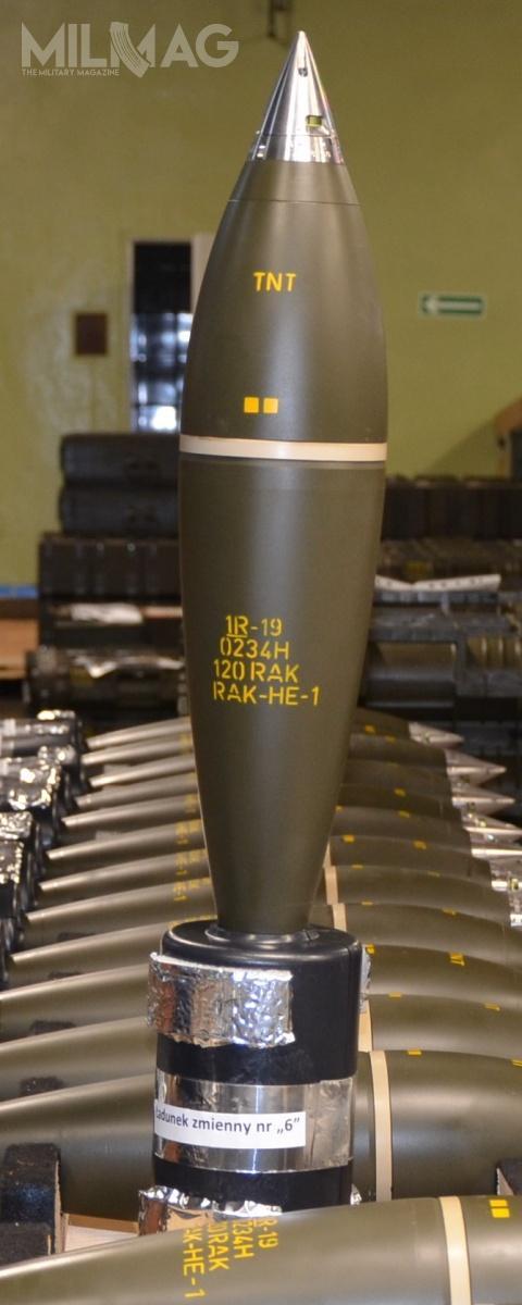 W 120-mm nabojach moździerzowych odłamkowo-burzących HE zastosowano zapalniki wykorzystujące efekt oddziaływania aerodynamicznego  / Zdjęcia: PGZ