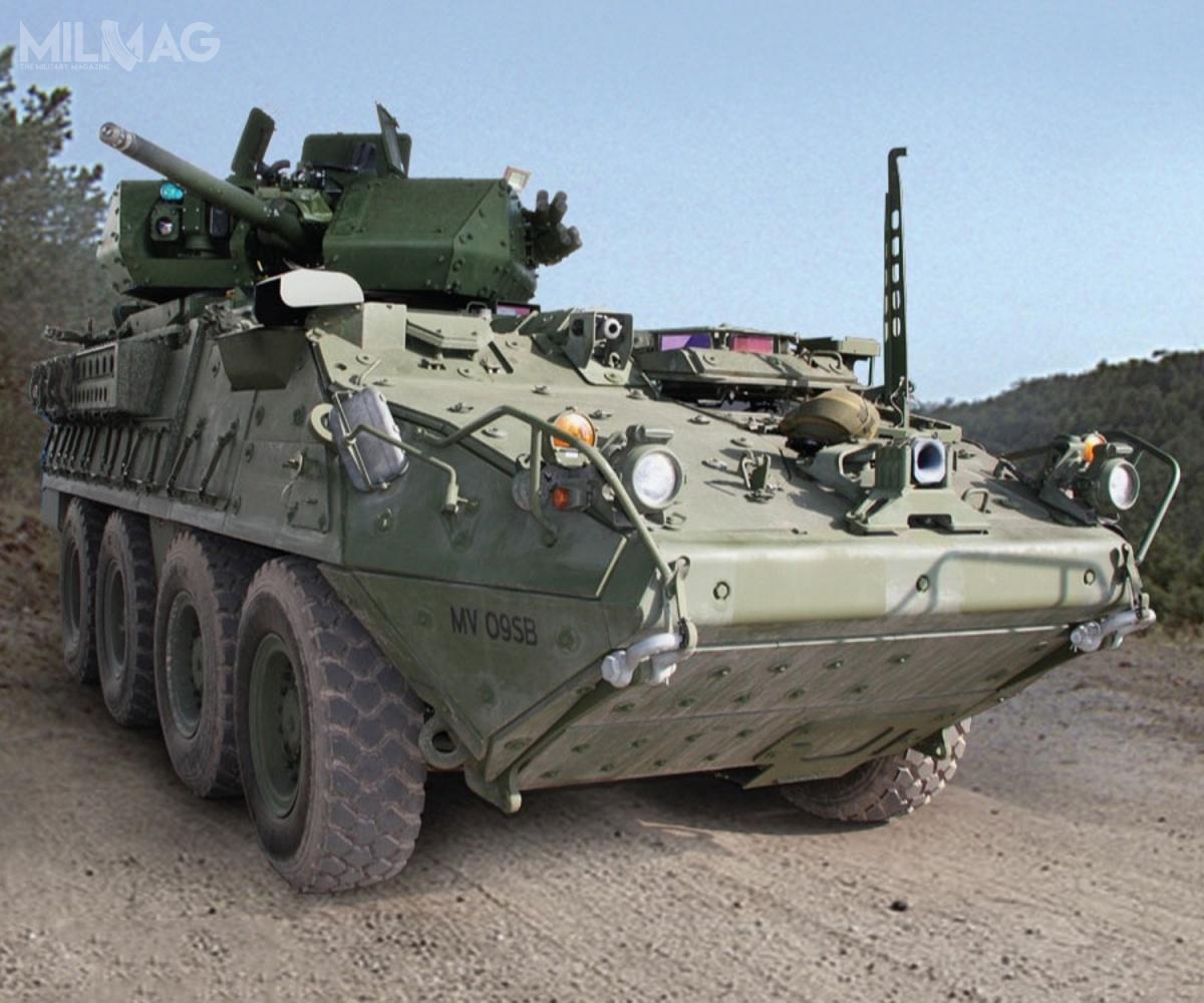 Wyposażenie transporterów opancerzonych Stryker wmoduły wieżowe z30-mm armatą ATK XM813, będącą rozwinięciem Mk44 Bushmaster II, ico zatym idzie przekształcanie ich wbojowe wozy piechoty, wynika zezmian wdoktrynie US Army. Nowe uzbrojenie ma być skuteczniejsze podczas potencjalnego konfliktu zpaństwem owysokiej kulturze technicznej / Zdjęcie: US Army