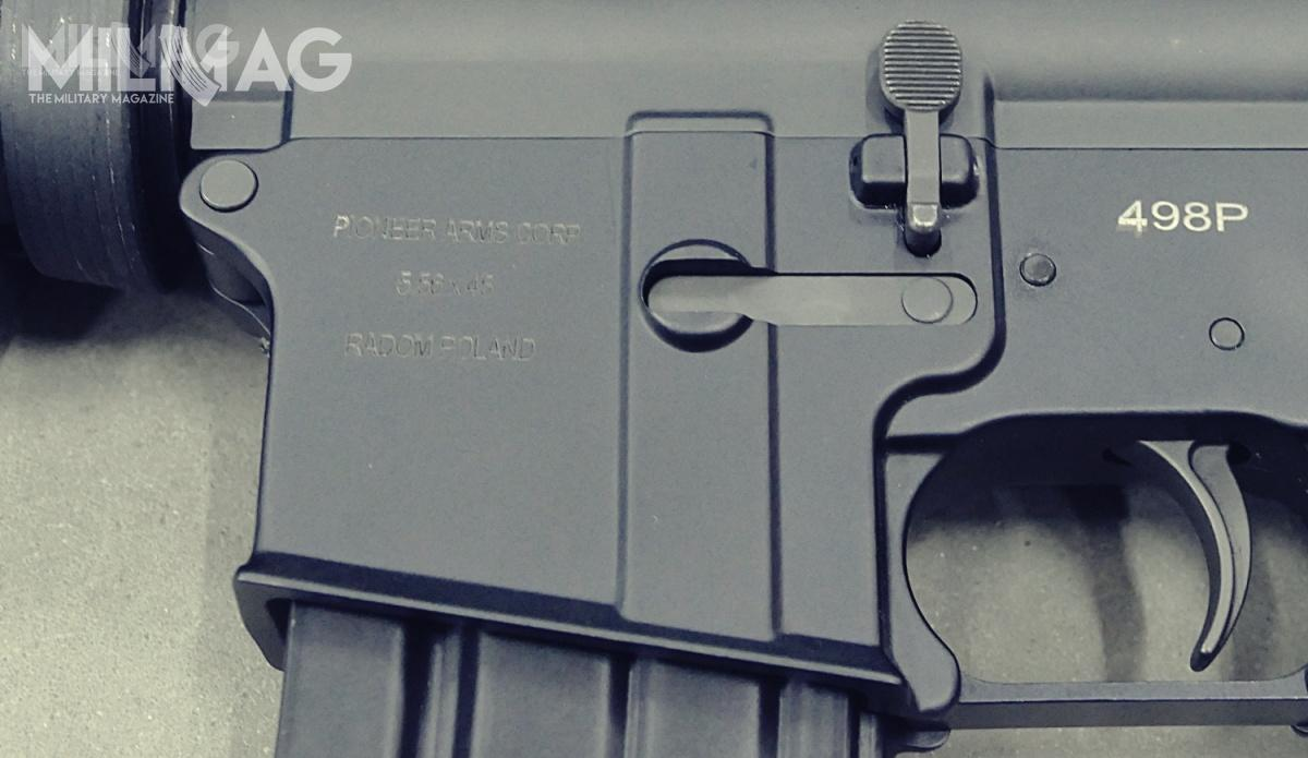 Manufacturer's name, ammunition type and location of manufacture are laser-engraved on the side of magazine well. / Photos: Remigiusz Wilk