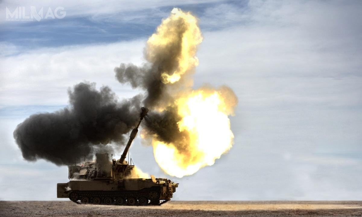 Po raz pierwszy dozestrzelenia celu powietrznego wykorzystano 155-mm armatohaubicę samobieżną BAE Systems M109A7 Paladin / Zdjęcie: US Army
