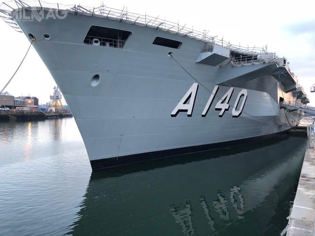 Pierwsza fotografia przemalowanego okrętu, znowym numerem taktycznym, leczwciąż przechodzącego remont imodernizację wDevonport przedprzekazaniem nowemu właścicielowi, pojawiła się napoczątku czerwca 2018 / Zdjęcie: Marinha doBrasil