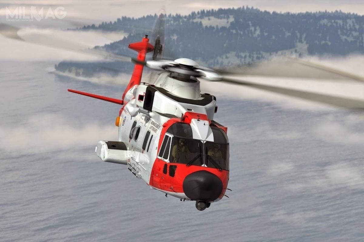 12 lutego 2019 wGdyni wylądował AW101 wnorweskich barwach wzwiązku zweryfikacją oferty złożonej wpostępowaniu nadostawę 4wiropłatów dla MW. Wcześniej, 2marca 2017 wŚwidniku iWarszawie zaprezentowano włoski wariant HH-101A. /Zdjęcie: Leonardo Helicopters