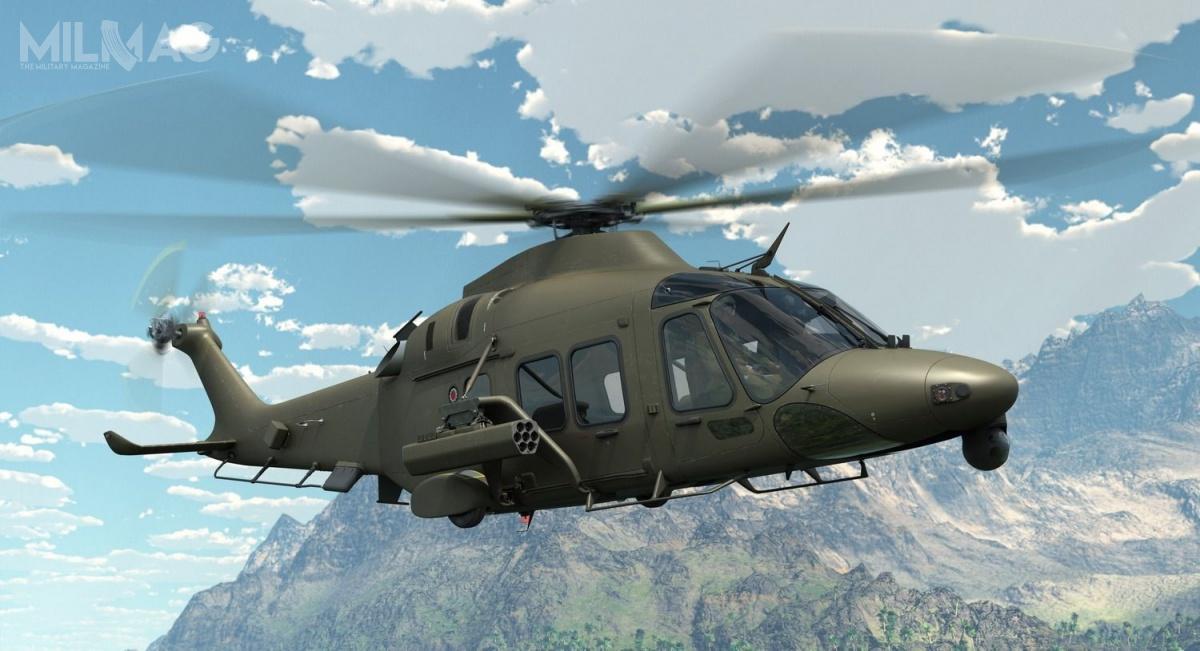 Kadłub AW169M ma 14,645 m długości, 2,53 m szerokości i4,5 m wysokości. Średnica głównego wirnika to12,12 m. Śmigłowiec jest napędzany dwoma silnikami turbowałowymi Pratt & Whitney PW210A, wpełni sterowanymi cyfrowo zapomocą systemu FADEC. Zapewniają prędkość maksymalną 306 km/h, zasięg 820 km imaksymalny czas lotu 4godz.20 min/ Grafika: Leonardo