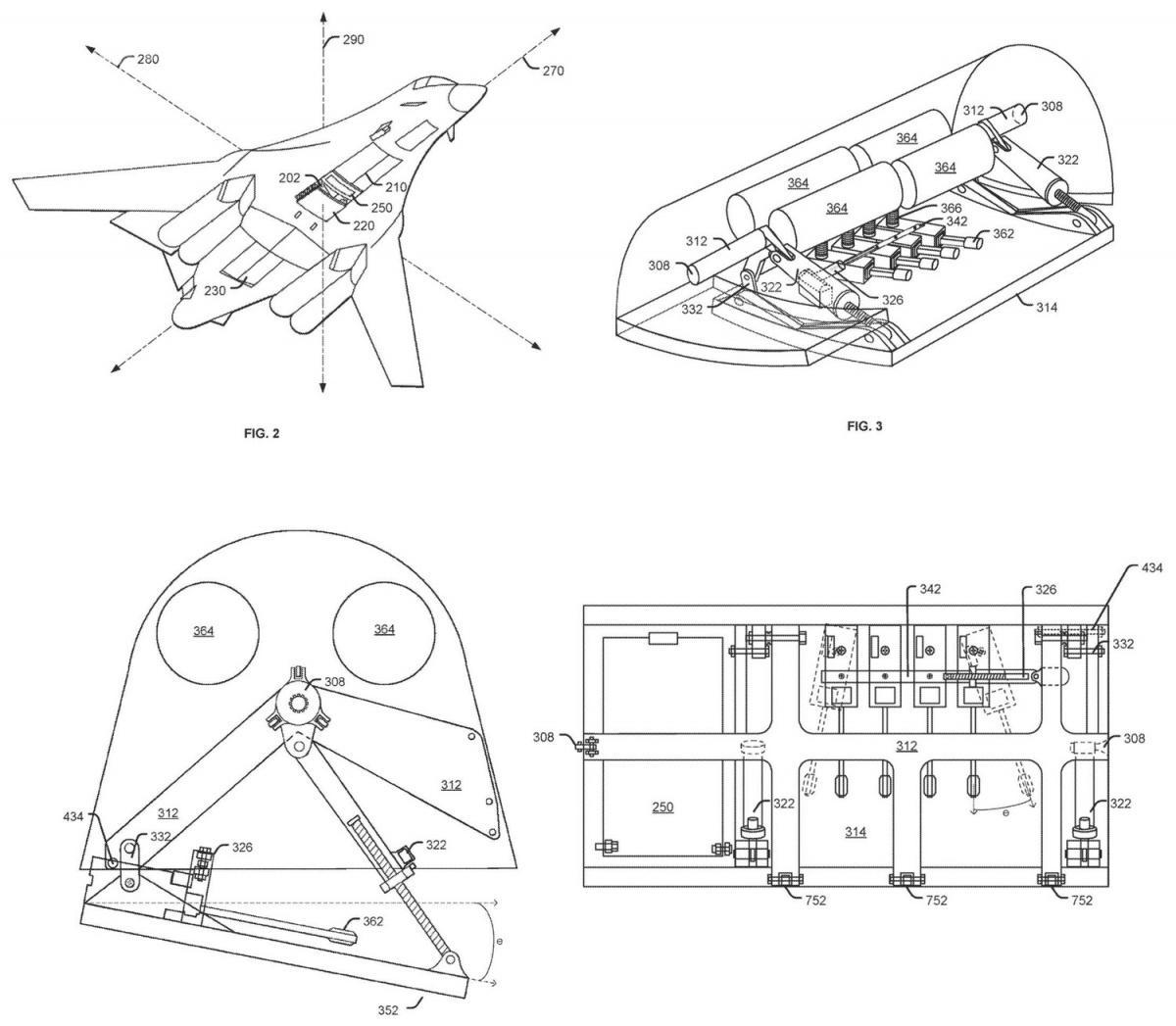 Dodatkowe uzbrojenie jest wysuwane tylkowczasie prowadzenia ostrzału celów naziemnych, azatem podczas przelotu niewpływa negatywnie naaerodynamikę samolotu inietworzy dodatkowej powierzchni zwiększającej wykrywalność B-1B naradarach