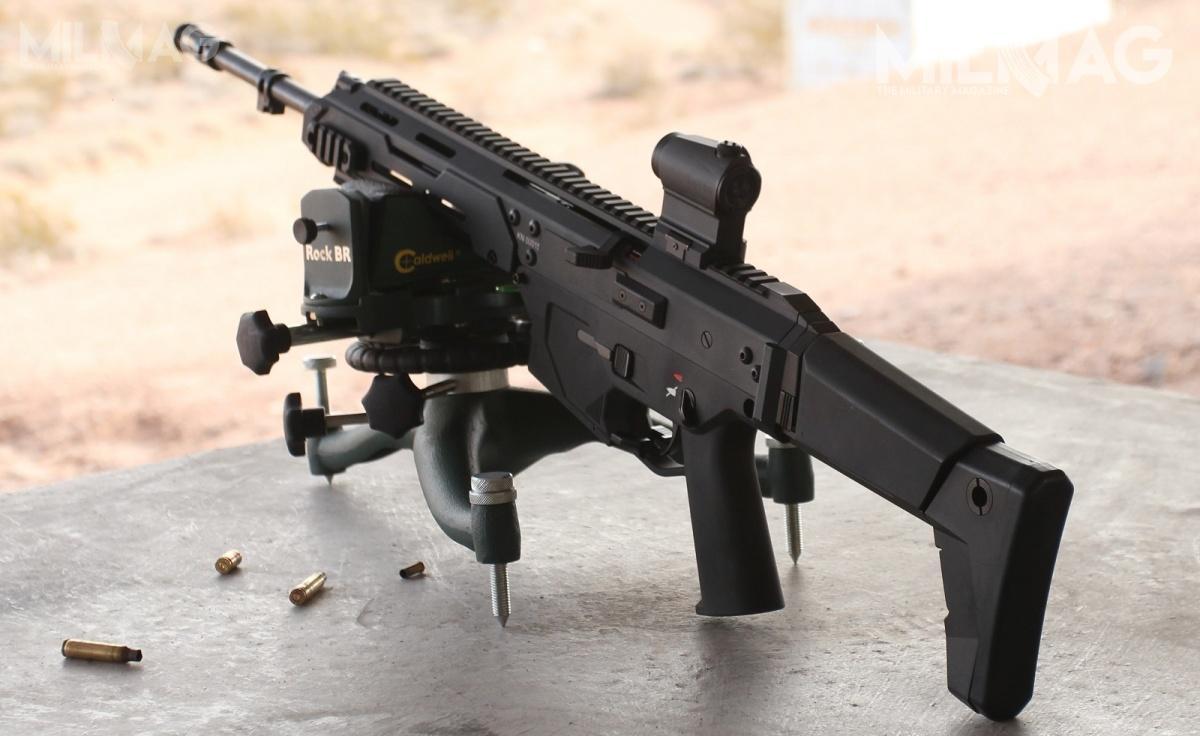 Prekursorem Grota S jest samopowtarzalny karabinek MSBS-5,56K prezentowany m.in.nanajwiększych naświecie amerykańskich targach broni SHOT Show wLas Vegas w2015 / Zdjęcie: Remigiusz Wilk