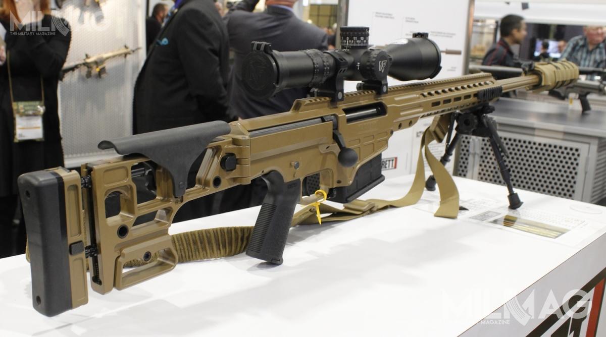 Na tegorocznym SHOT Show zaprezentowano proponowany amerykańskim komandosom karabin snajperki Barrett MRAD wwersji ASR doamunicji .300 Norma Magnum / Zdjęcia: Celina Pawlik