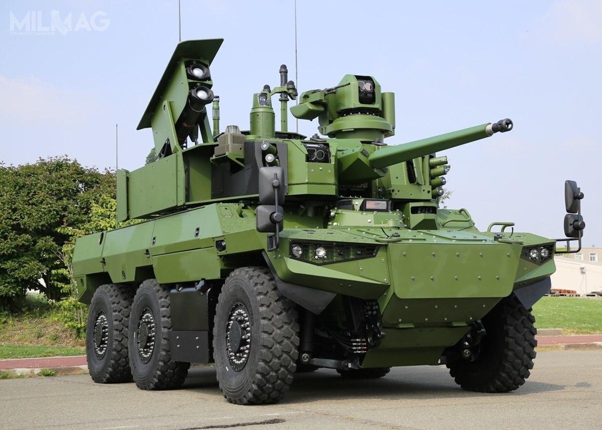 Jaguar EBRC jest kołowym pojazdem rozpoznawczym iwsparcia ogniowego wukładzie napędowym 6x6, ztrzyosobową załogą. /Zdjęcie: Nexter Systems
