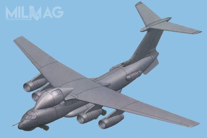 Upubliczniony dokument dotyczący patentu przemysłowego przedstawia jedynie schemat samolotu Ił-76MD-90A iniezawiera dodatkowych informacji / Grafika: Berijew/Rospatent