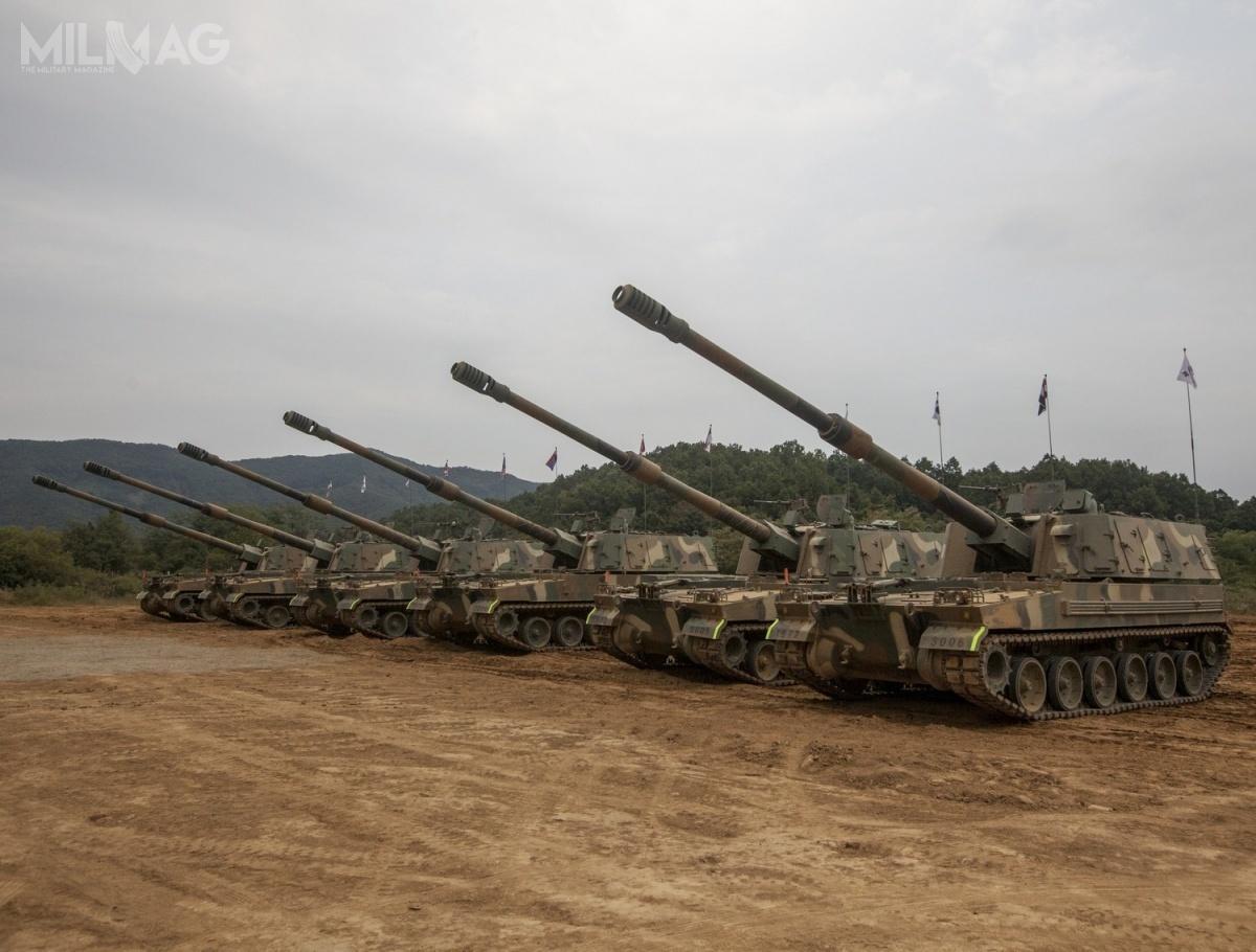 Doprowadzenie 155-mm/L52 armatohaubic samobieżnych K9 Thunder dowpełni bezzałogowej wersji będzie podzielone naetapy. Najpierw zostanie wprowadzona bezzałogowa wieża zautomatem ładowniczym wwersji K9A2 / Zdjęcie: ROK Army