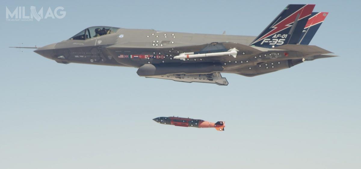 BLU-137/B zastąpią starsze BLU-109/B iBLU-109C/B, które mogą być przenoszone przezF-35 Lightning II / Zdjęcie: Lockheed Martin