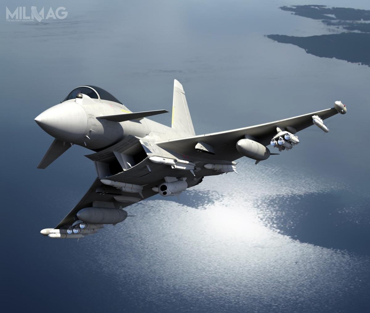 W przyszłości Eurofighter Typhoon będzie jedyną załogową platformą RAF, przenoszącą pociski rakietowe Brimstone 2CSP. /Zdjęcie: MBDA