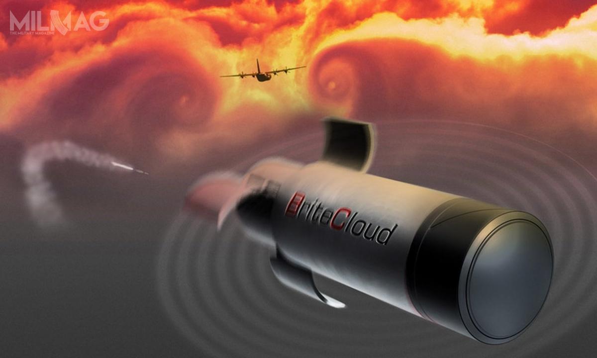 Z uwagi nawiększe rozmiary odbicia radarowego samolotów transportowych, nowy system BriteCloud 55-T wymagał zastosowania silniejszego emitera / Film igrafiki: Leonardo