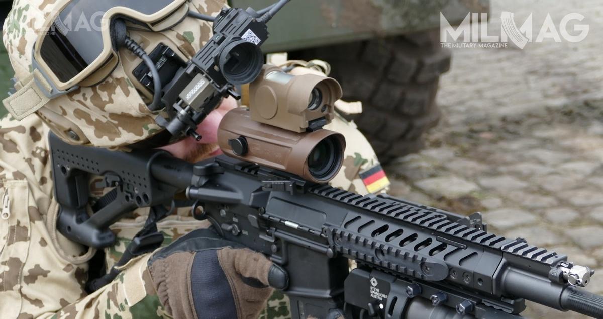 Niemieckie siły zbrojne szukają dostawcy ponad 103 tys. zestawów celowników donowej broni strzeleckiej, którama zostać następcą G36 wyłonionym wprogramie System Sturmgewehr Bundeswehr. Wskład zestawu ma wchodzić celownik optyczny opowiększeniu 4x icelownik kolimatorowy wpostaci jednego lub dwóch połączonych zesobą urządzeń / Zdjęcie: Remigiusz Wilk