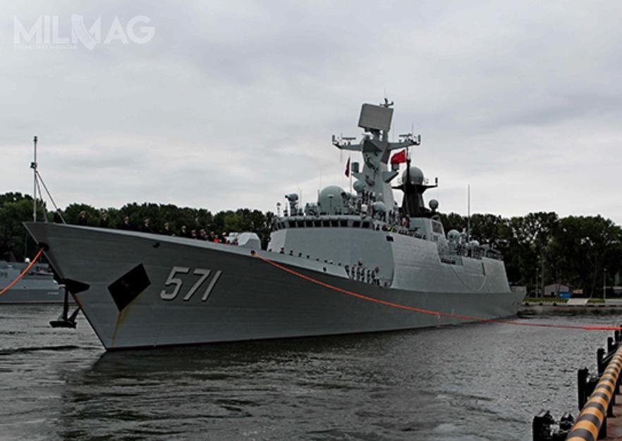 Chińskie wielozadaniowe fregaty typu 053A zapewniają obronę przeciwlotniczą zespołom okrętów wpromieniu 50 km. Uzbrojone wrakieto-torpedy mogą również zwalczac okręty podwodne.