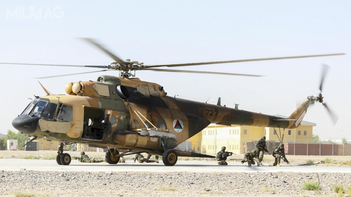 Skrzydło Operacji Specjalnych afgańskich sił zbrojnych, które wykorzystuje około 30 śmigłowców Mi-17W5 isamoloty rozpoznawcze PC-12NG, jest głównym partnerem międzynarodowych sił pokojowych wwalce zterroryzmem iprzemytem narkotyków wkraju. Pełną gotowość operacyjną osiągnęło w2016 / Zdjęcia: US Army