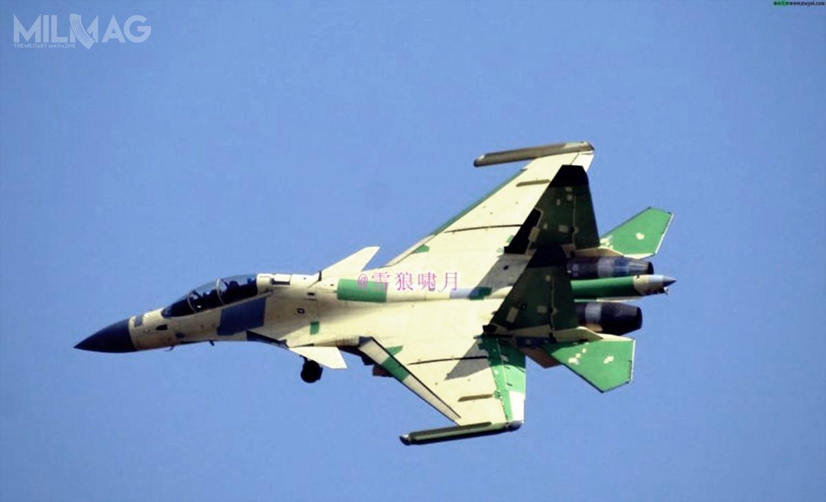 J-15D jest zmodyfikowanym, dwumiejscowym wariantem J-15S, dostosowanym dozadań walki radioelektronicznej / Zdjęcie: Internet