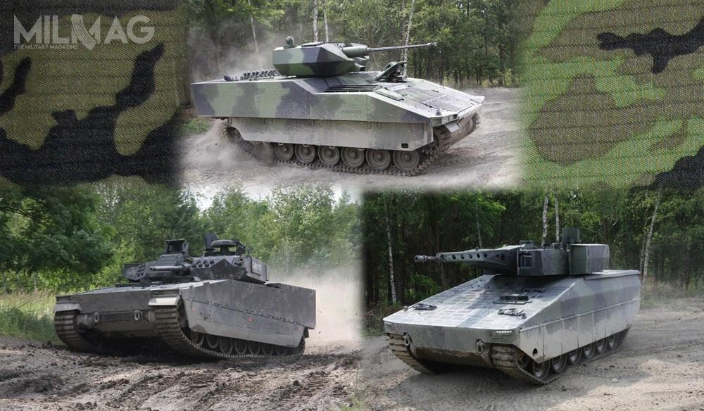 Czechy zaplanowały zakup nawet 210 nowych bwp, które zastąpią wyprodukowane wlatach 1980. licencyjne BVP-2. Wpaździerniku otrzymano trzy oferty: naszwajcarsko-hiszpański bwp ASCOD, brytyjsko-szwedzki CV90 MkIV iniemiecki KF31/41 Lynx / Grafika: Ministerstwo Obrony Republiki Czeskiej