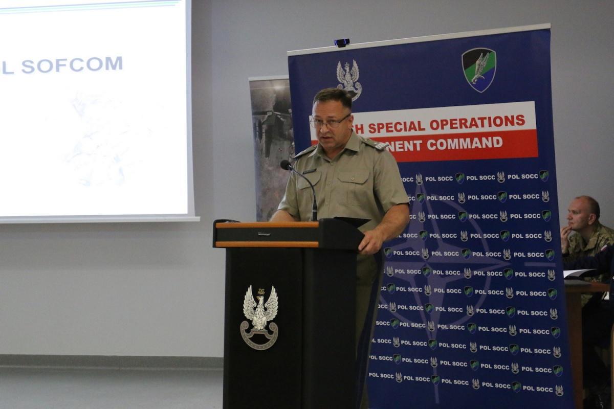 Inicjatorem krakowskiej, jubileuszowej konferencji był Dowódca Komponentu Wojsk Specjalnych, gen. bryg. Wojciech Marchwica