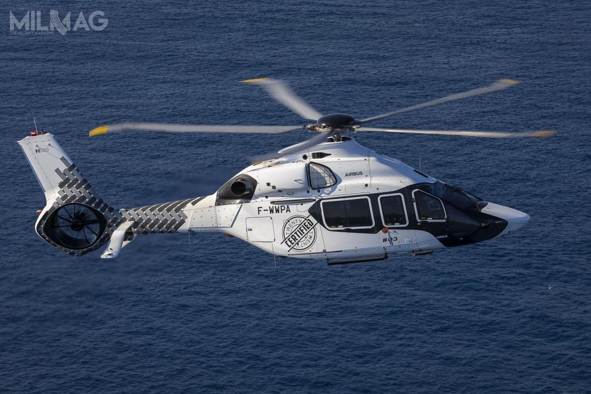H160 wyposażono wawionikę Helionix, wspomagającą iautomatyzującą pracę pilota iredukujące hałas łopaty wirnika nośnego Blue Edge / Zdjęcie: Eriz Raz, Airbus Helicopters