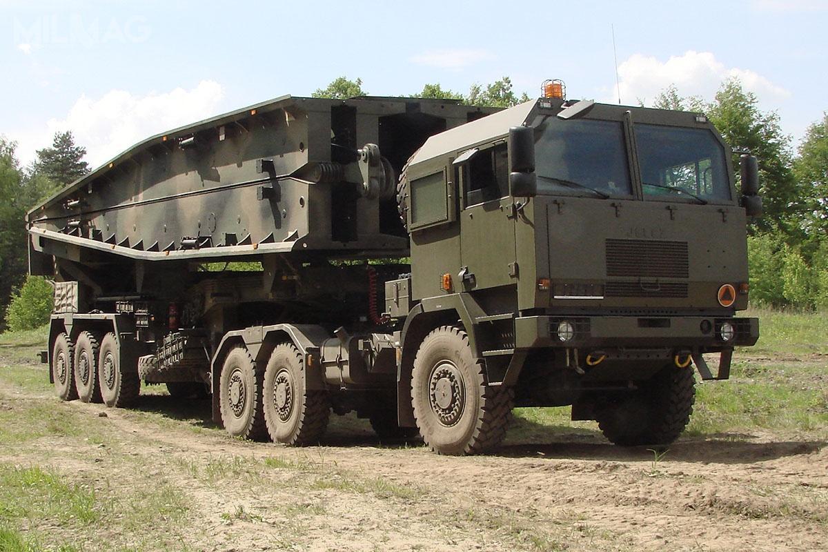 Począwszy od2012 Wojsko Polskie otrzymało dotąd 12 mostów towarzyszących napodwoziu samochodowym MS-20 Daglezja. /Zdjęcie: Ośrodek Badawczo-Rozwojowy Urządzeń Mechanicznych