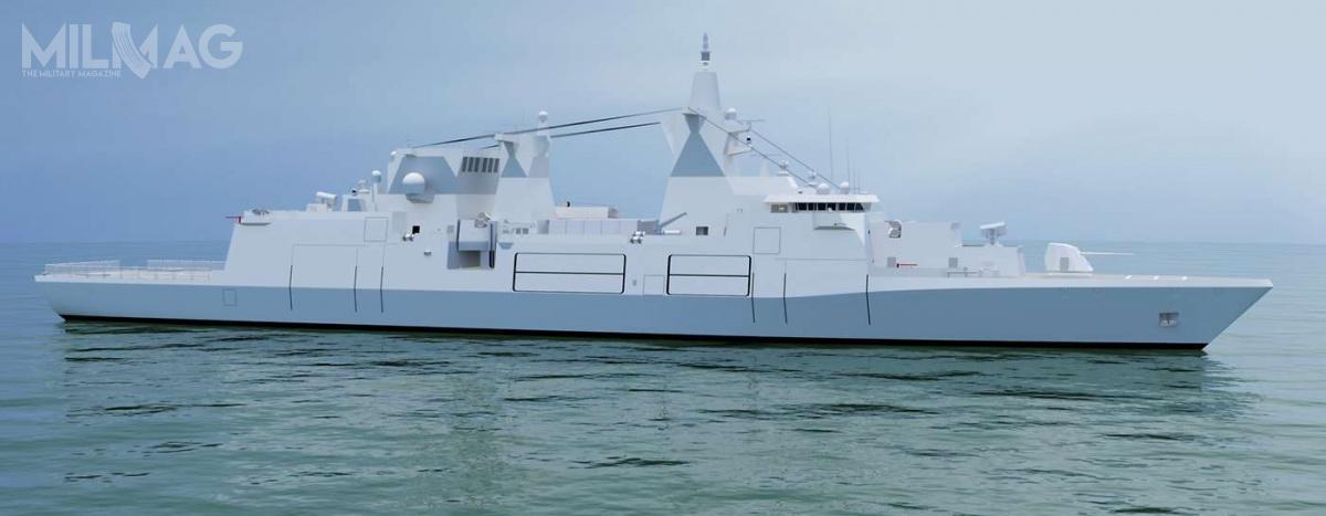 Nowe jednostki owyporności rzędu 9tys. t  będą wistocie niszczycielami rakietowymi, choć zewzględów politycznych będą klasyfikowane jako fregaty / Grafika: Bundeswehra