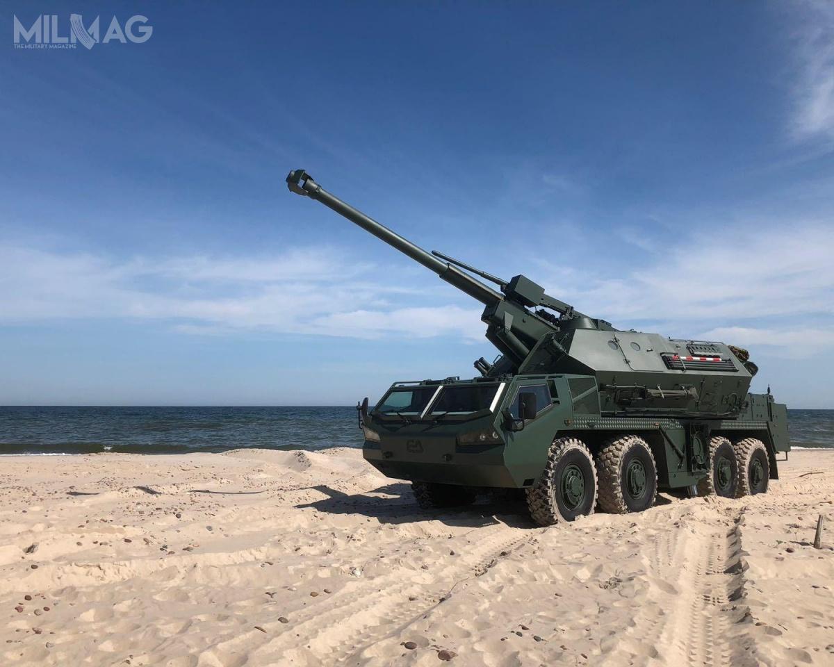 Jedyny jak dotąd prototyp 152-mm samobieżnej armatohaubicy Dana M2 został ukończony wmaju 2018 izaprezentowany bliżej nieokreślonemu przyszłemu użytkownikowi / Zdjęcie: Excalibur Army
