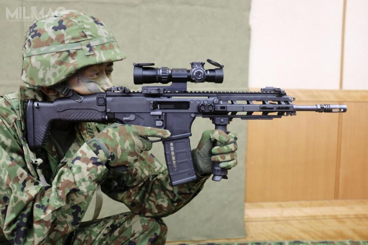 Japońskie Siły Samoobrony ujawniły 18 maja 2020 roku nową broń strzelecką: 5,56 mm karabinek automatyczny Howa typ 20 ipistolet samopowtarzalny H&K SFP9-M. Siły Samoobrony zamówiły 3283 karabinków za900 milionów jenów (35,1 mln zł) i323 pistoletów za20 milionów jenów (780 tys. zł).