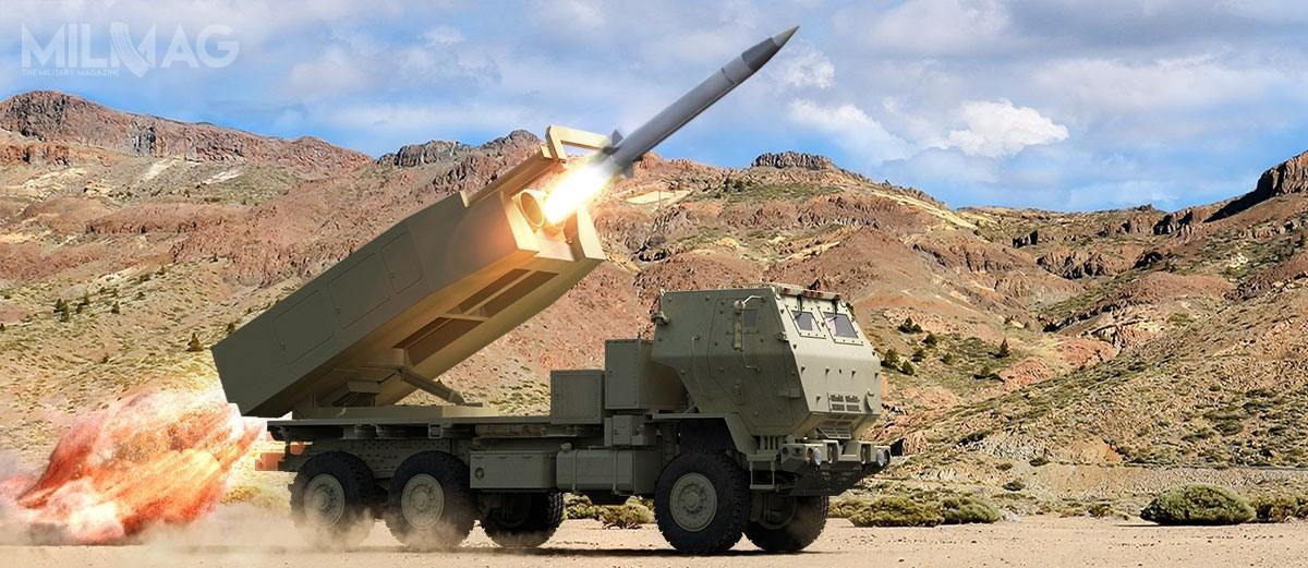 Pociski rakietowe dalekiego zasięgu DeepStrike mają zostać zintegrowane zwyrzutniami M142 HIMARS (High Mobility Artillery Rocket System) iM270 MLRS (Multiple Launch Rocket System), należącymi doUS Army. /Grafika: Raytheon