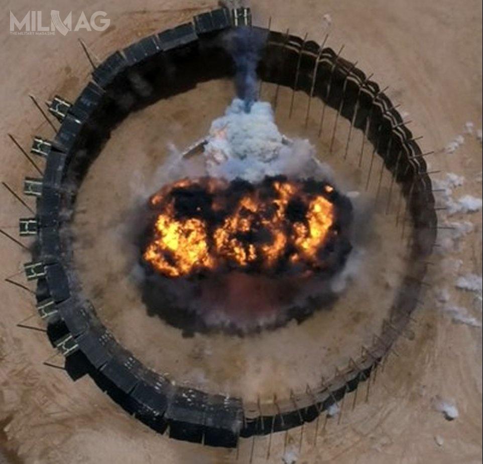 Głowica bojowa z91-kilogramowym ładunkiem odłamkowo-burzącym została zdetonowana wkontrolowanym środowisku napoligonie NTS wCamden / Zdjęcie:  National Ordnance and Ballistic Test Center