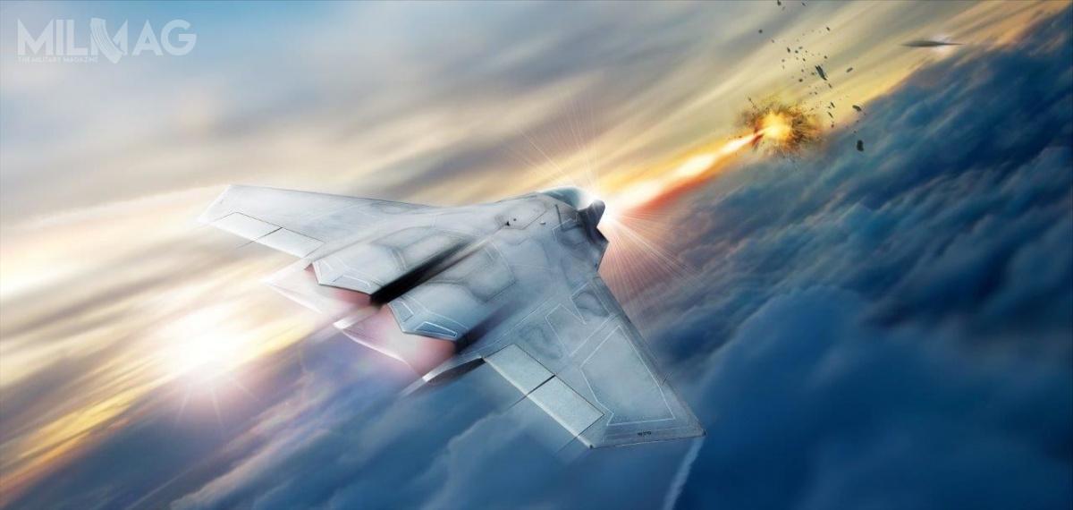 6 listopada 2017 Lockheed Martin otrzymał odAFRL kontrakt wramach programu SHiELD naopracowanie ibudowę lasera światłowodowego dużej mocy zprzeznaczeniem dozabudowy nasamolotach myśliwskich w2021 /Grafika: Lockheed Martin