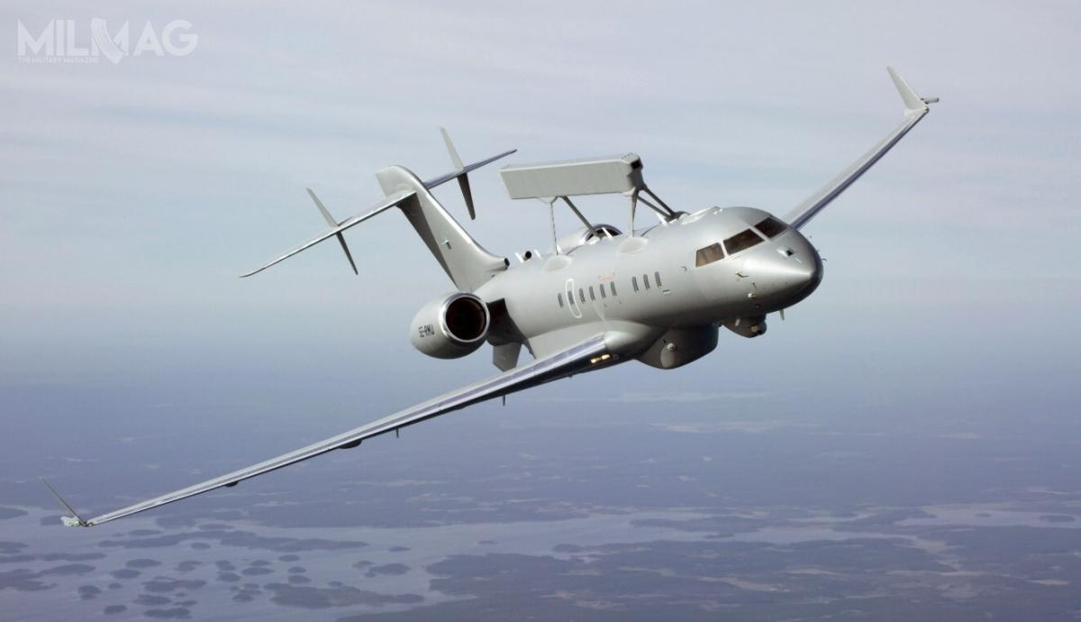 Prezentacja pierwszego samolotu nastąpiła 23 lutego, aoblot 14 marca 2018. Zkolei 3stycznia 2019 oblatano drugi zamówiony przezZEA egzemplarz. Trzeci samolot wzbił się wpowietrze 30 sierpnia 2019 / Zdjęcie: Saab Defence and Security