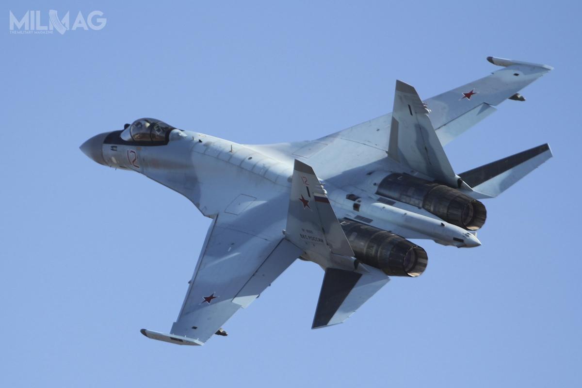 Media egipskie poraz pierwszy informowały onegocjacjach ws. zakupu dwunastu Su-35S w2016. Wojska lotnicze Egiptu dysponują także szturmowymi Mirage 5E2/SDE/SDR, wielozadaniowymi Mirage 2000EM iRafale D/E czyF-16A/B/C/D / Zdjęcie: Ministerstwo Obrony Federacji Rosyjskiej