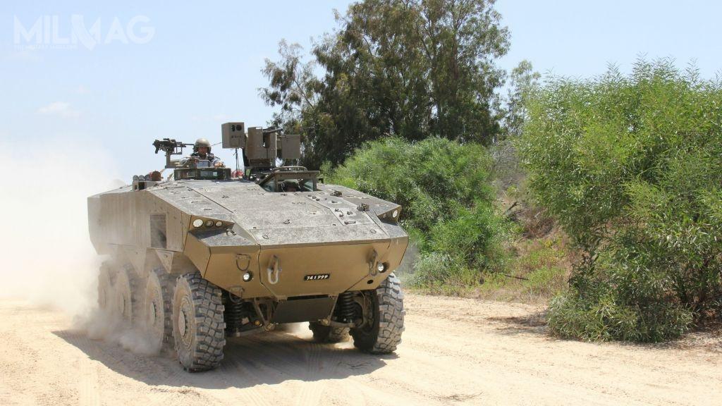 Kołowy transporter piechoty Eitan prawdopodobnie będzie najcięższym pojazdem wswojej klasie naświecie zuwagi nasilne opancerzenie /Zdjęcia: Israel Military Industries