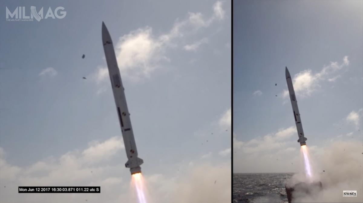 Testowe pociski RIM-162 ESSM Block II zostały poraz pierwszy odpalone 12-13 czerwca 2017 napoligonie morskim Point Mugu uwybrzeży Kalifornii (bezgłowicy bojowej) /Zdjęcie: US Navy