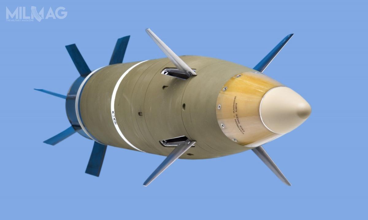 Opracowany przezamerykański Raytheon Missile Systems orazszwedzki BAE Systems AB, M982 Excalibur pozostaje nauzbrojeniu Australii, Holandii, Kanady, Niemiec, Szwecji iUSA. /Zdjęcie: Raytheon