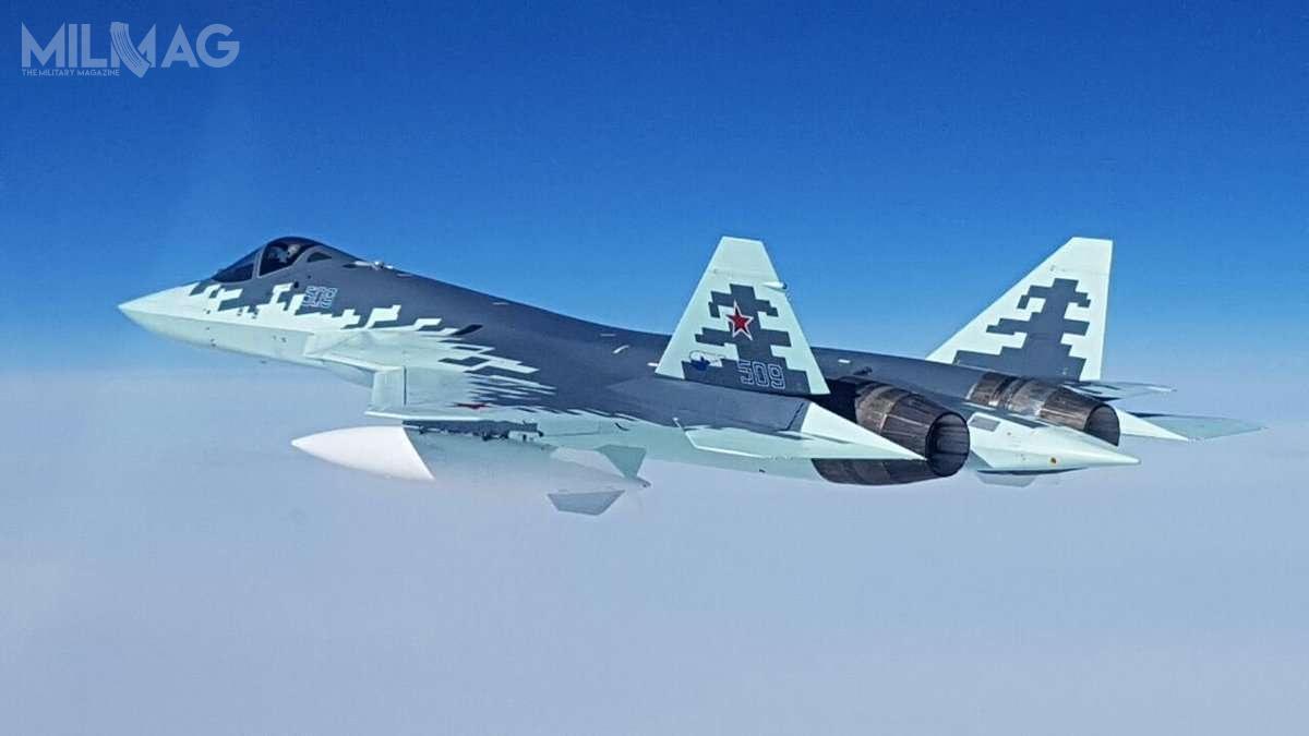 Pierwotnie Hindusi wymagali łącznie 43 modyfikacji konstrukcji FGFA wporównaniu zrosyjskim myśliwcem 5. generacji Su-57 / Zdjęcie: Ministerstwo Obrony Rosji