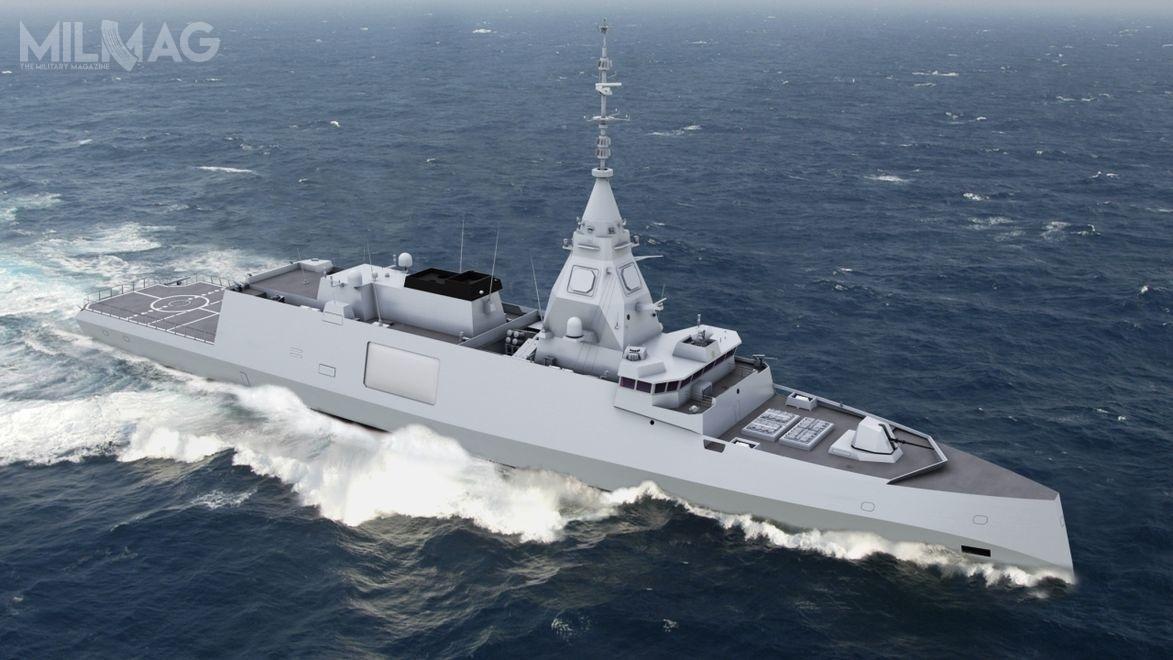 W 2021 zostanie zamówiona kolejna zplanowanych łącznie pięciu fregat rakietowych typu Belharra wramach programu FDI / Grafika: Naval Group