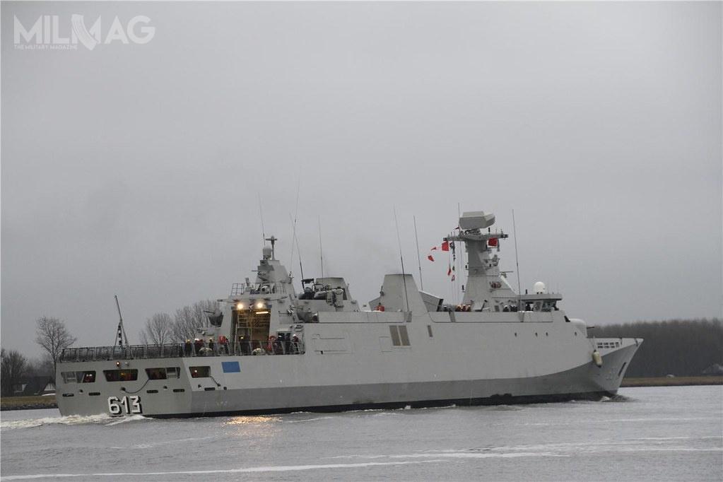 VL MICA wwariancie morskim (VL MICA-M), wszedł douzbrojenia okrętów marynarek wojennych Egiptu, Indonezji, Maroka, Omanu, Singapuru iZjednoczonych Emiratów Arabskich. Kolejnym użytkownikiem będą siły morskie Malezji. Wprzypadku Maroka, trafiły one nauzbrojenie trzech fregat typu SIGMA 9813 iSIGMA 10513 / Zdjęcie: MO Maroka