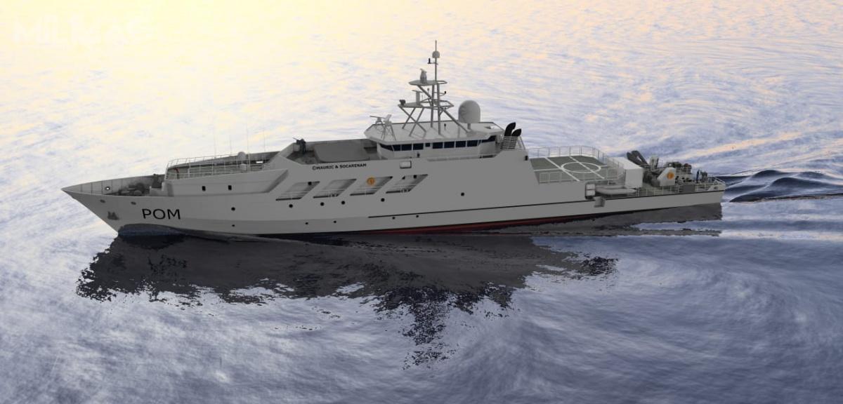 Nowe pełnomorskie okręty patrolowe Marine Nationale będą prowadzić działania wrejonie francuskich terytoriów zamorskich wNowej Kaledonii, Polinezji Francuskiej inaReunion / Grafika: Socarenam