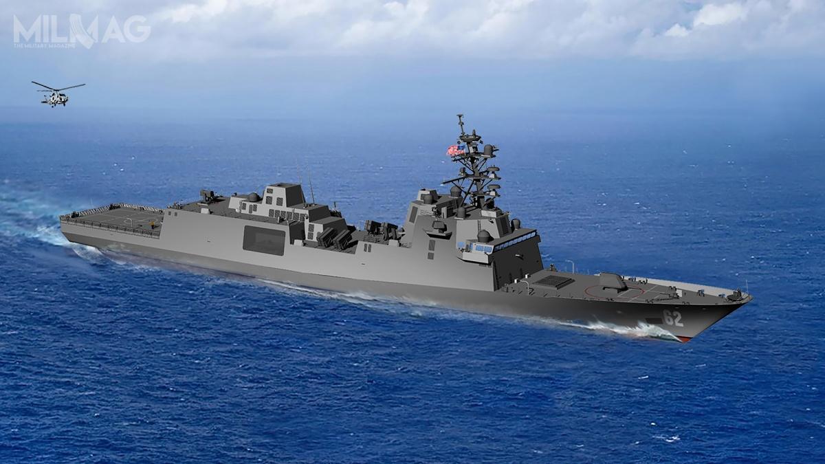 US Navy planuje zamówić łącznie 20 fregat rakietowych nowej generacji, które wypełnią lukę operacyjną powstałą w2015 powycofaniu fregat OHP, aktórejniewypełniły okręty typów Independence iFreedom, klasy LCS / Grafika: Marinette Marine