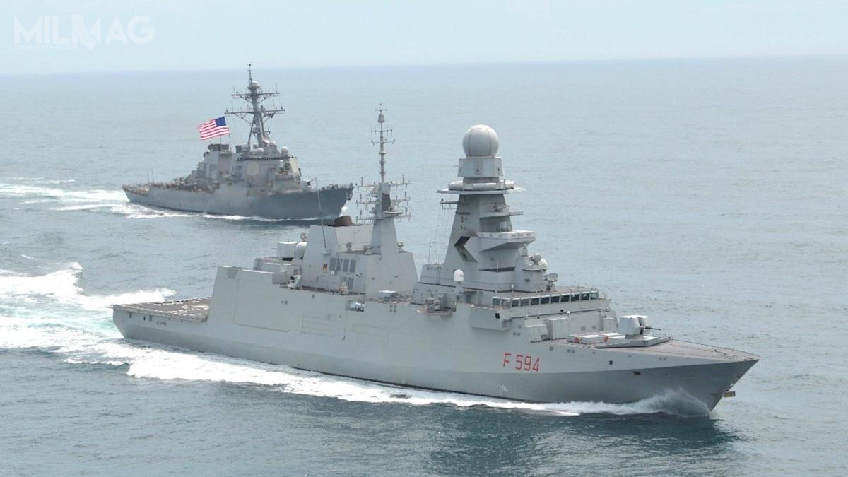 Fregaty rakietowe typu FREMM (wwersjach ZOP, przeciwlotniczej iwielozadaniowej) weszły nawyposażenie marynarek wojennych Francji (zamówiono 8okrętów jako typ Aquitaine, 1sprzedany), Włoch (10 jako Carlo Bergamini), Maroko (1okręt), Egipt (1okręt odkupiony odFrancji itrwają rozmowy zWłochami ws. odkupienia dwóch). Dzierżawę dwóch okrętów francuskich rozważała też Grecja, aleostatecznie zamówiła dwa nowe okręty typu Belharra / Zdjęcie: US Navy