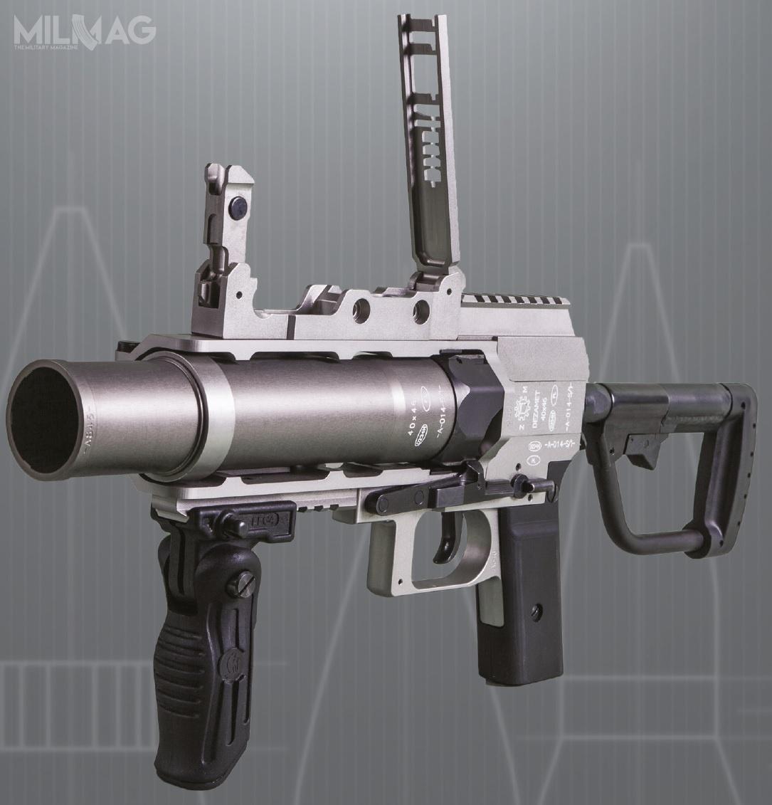 Granatnik samodzielny GSBO-40 doamunicji 40 mm x 46SR. Dotejpory Wojsko Polskie od2010 zakupiło 160 tych konstrukcji / Zdjęcie: Dezamet