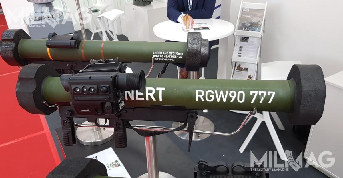 Jednym zpotencjalnych kandydatów naprzeciwpancernego Grota jest rodzina jednorazowych granatników RGW 90, produkowana przezniemiecką spółkę Dynamit Nobel Defence (DND), którychdystrybutorem wPolsce jest spółka Griffin Group Defence zWarszawy / Zdjęcie: Jakub Link-Lenczowski
