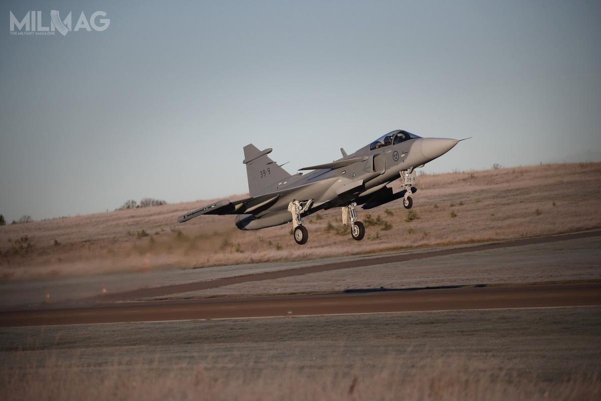 Prototyp 39-9 wystartował wdziewiczy lot 26 listopada ogodz.9.50 czasu lokalnego / Zdjęcie: Saab Defence and Security