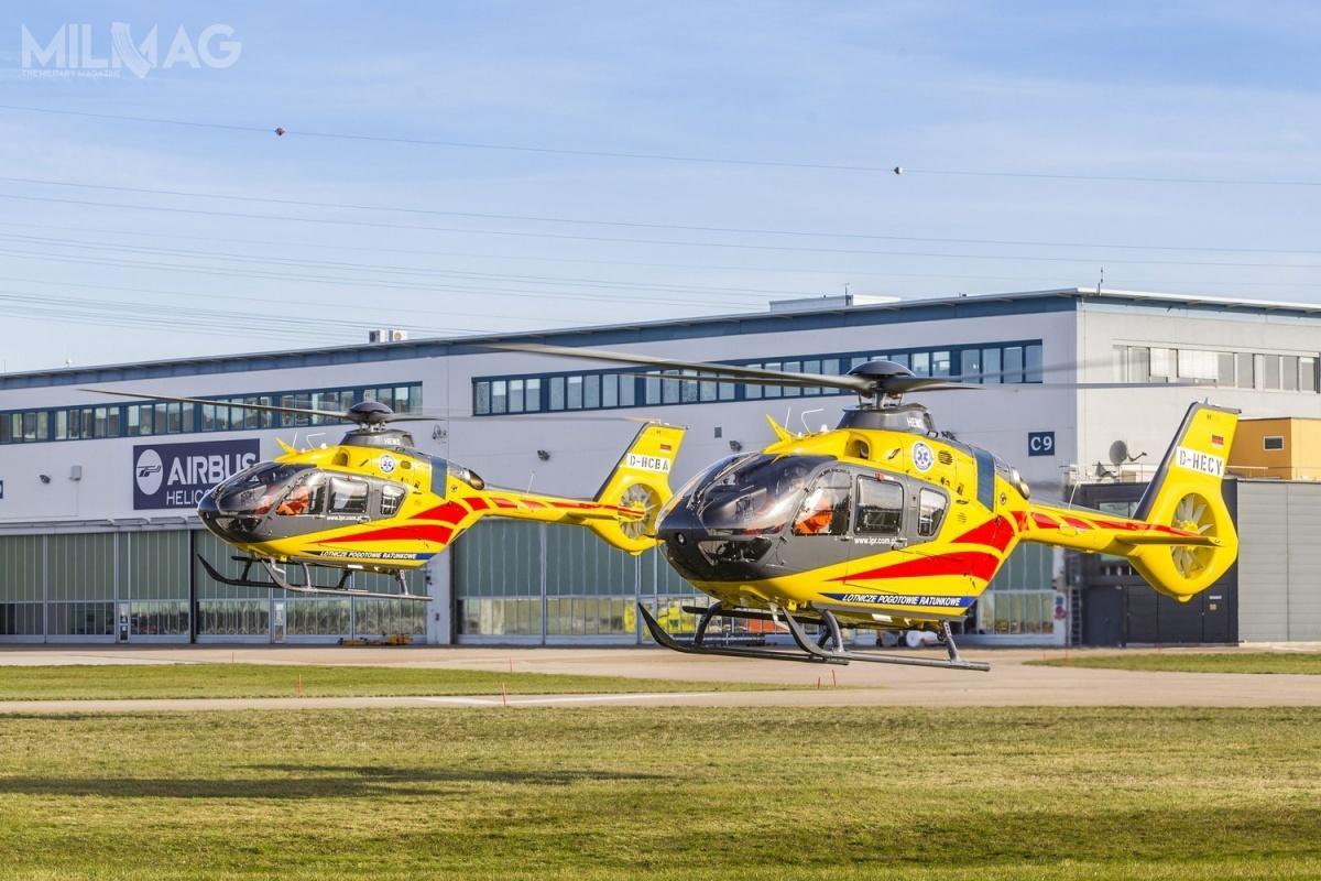 Wymagania techniczne spełniają śmigłowce Leonardo (AgustaWestland) AW109, Bell 429 iAirbus Helicopters H135. Te ostatnie są używane przezLotnicze Pogotowie Ratunkowe / Zdjęcie: Airbus Helicopters