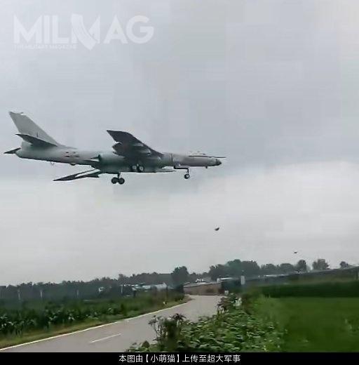 Na lotnisku Neixiang, skąd pochodzi ujawnione nagranie wideo, stacjonuje 106. Brygada Lotnictwa chińskich wojsk lotniczych (PLAAF), którajest wyposażona wsamoloty H-6K/N. / Zdjęcie: chiński Internet